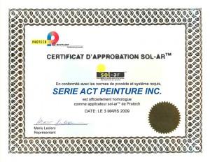 Certificat Protech
