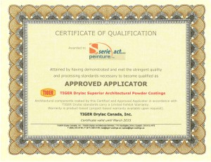Certificat Tiger